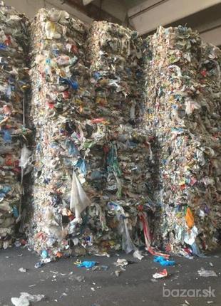 Сортированные отходы полимеров из Европы .