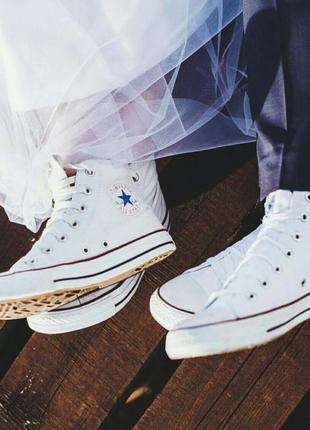 Кеды converse all star  белые высокие размеры