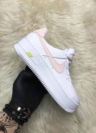 Кроссовки женские nike air force low white pink