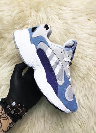 Кроссовки женские adidas yung 1 blue gray