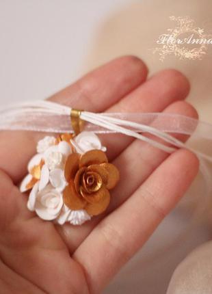 """Кулон с цветами ручной работы """"барокко"""". подарок девушке на но..."""