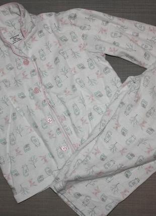 """Байковая пижама """"сова+котик"""" ф.primark  для ребенка р-98,отличное"""