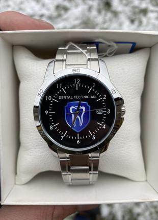 """Мужские наручные часы Casio MTP-V004D с логотипом """"Стоматология"""""""