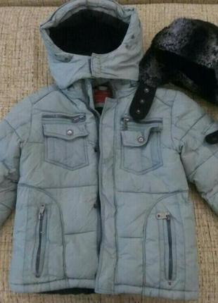 Зимняя куртка курточка парка на холофайбере и флисе ohccmith