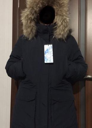 Зимняя куртка пуховик мужской frompoles темно синий 52 аляска