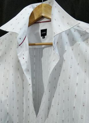 Женская рубашка oversize объемная большая с широким рукавом белая