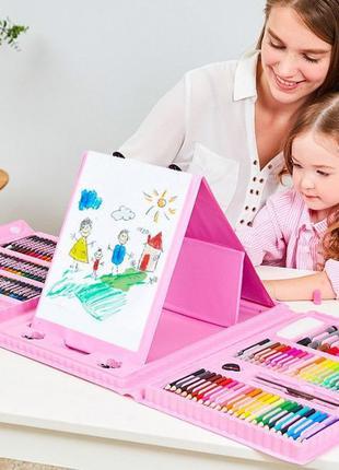 Детский набор художника c мольбертом 208 предметов