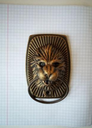 Лев, дверна накладка, дверна ручка, стучалка