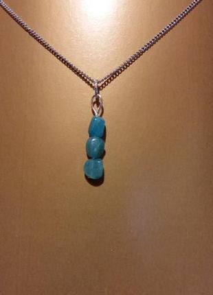 Новый кулон амазонит 3 натуральный камень минерал подарок девушке