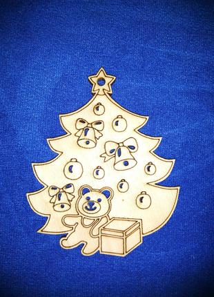 Новогодняя ёлочка из фанеры