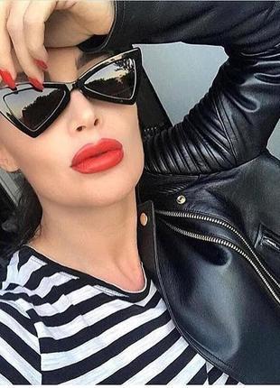 Стильные очки бантики, узкие очки, тренд 2018