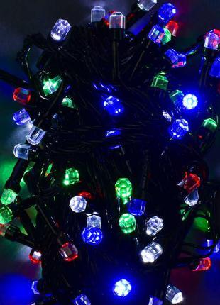 Гирлянда светодиодная, 100 лампочек, 10 метров