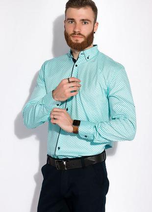 Мужская рубашка с длинными рукавами