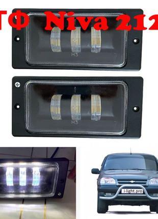 Противотуманные светодиодные LED ПТФ фары Chevrolet Niva Ваз 2123