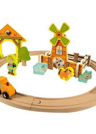 Classic World Деревянная железная дорога Ферма