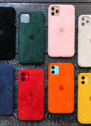 Чехол бампер кожа ALCANTARA FULL PREMIUM iPhone 12 mini pro