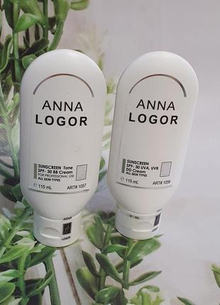 Солнцезащитный крем spf 30 anna logor