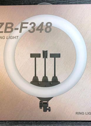 Кольцевая светодиодная TikTok LED Лампа 45 см ZB-348 с 3-мя зажим