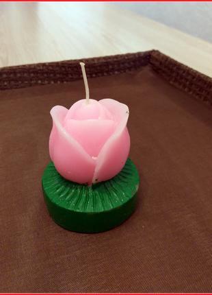 Свеча декоративная цветок роза bonadi