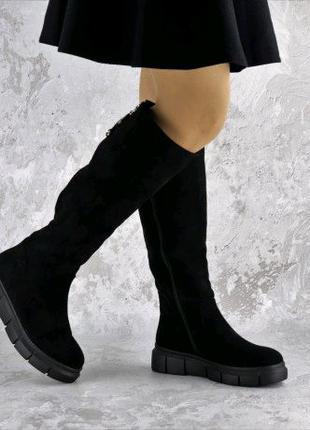 Ботфорты женские черные Krissy 2315