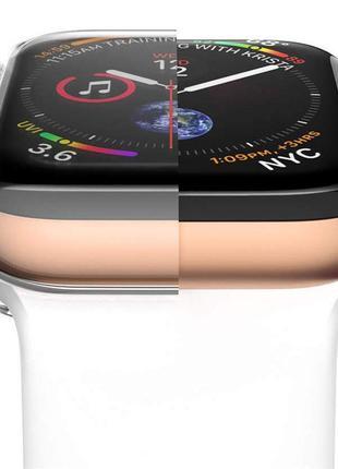 Защитный чехол для часов Apple watch 4 3 2 1  мягкий 360 тонкий