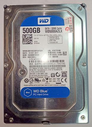 "Жесткий диск WD Blue WD5000AZLX, 3,5"", 500 Gb, SATA 3.0, 32Mb"