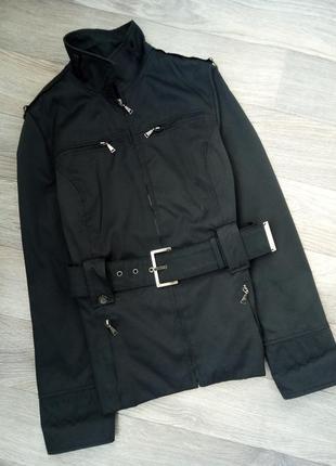 Короткий тренч куртка ветровка с поясом