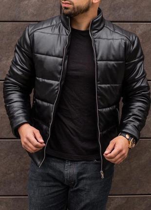 Мужская зимняя куртка из эко кожи