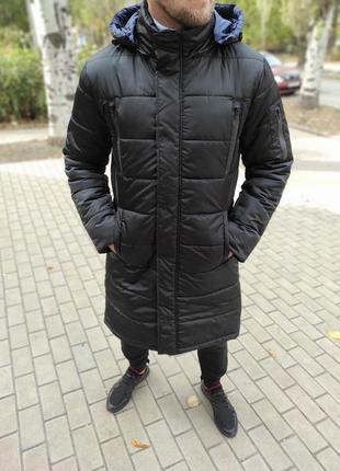 Мужская зимняя длинная куртка