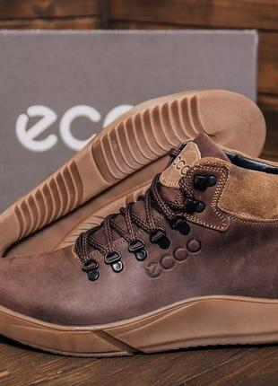 Мужские зимние кожаные ботинки