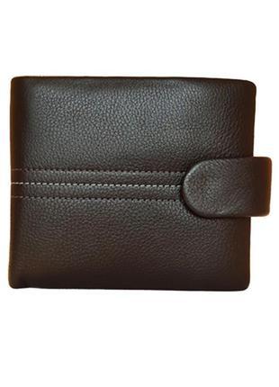 Мужской кожаный кошелек с зажимом для денег vereva черный