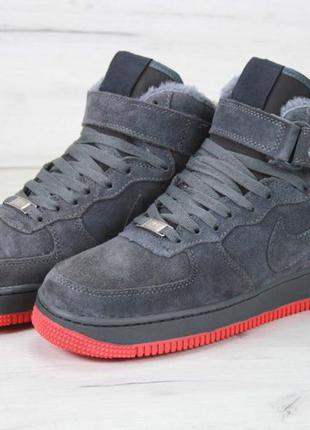 Nike Air Force 1 Grey Red
