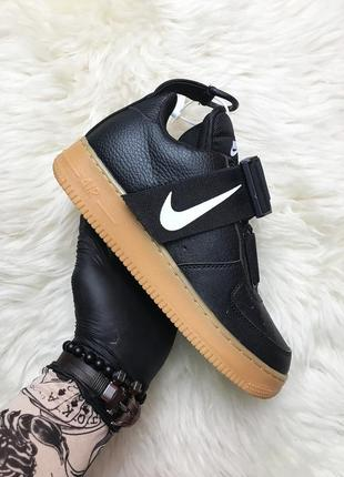 Черные мужские кроссовки nike air force 1 low utility black