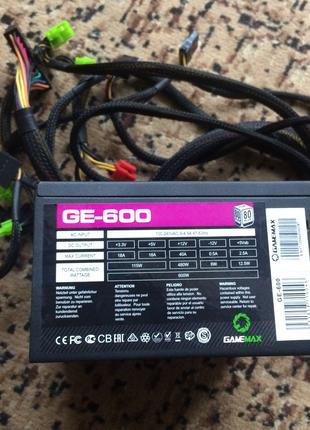 Блок питания GameMax GE-600 600W Блок Живлення