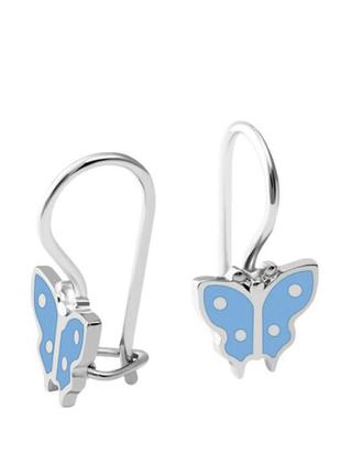 Серьги серебро 925 бабочки вс057
