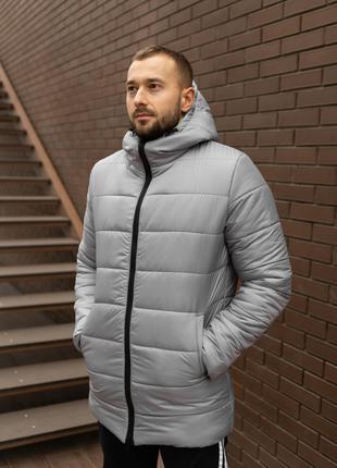 Мужская Зимняя Удлинённая Куртка