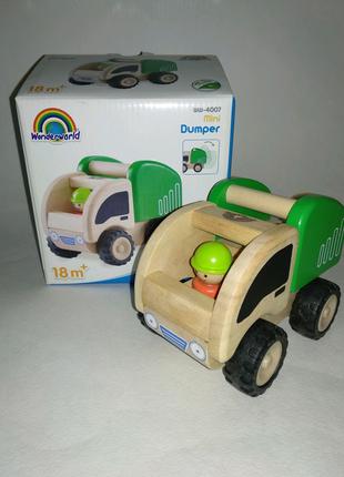 Машинка wonderworld дерево игрушка eco ЭКО