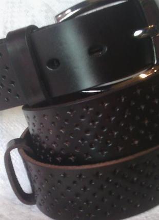 Пояс кожаный ремень темно коричневый шоколад в наличии