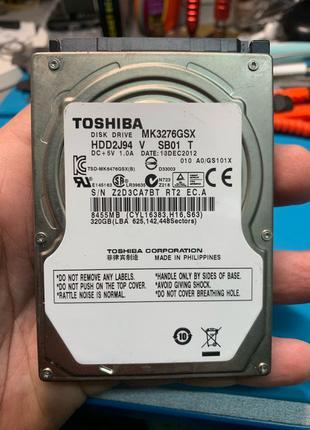 Жёсткий диск для ноутбука не рабочий toshiba 320gb