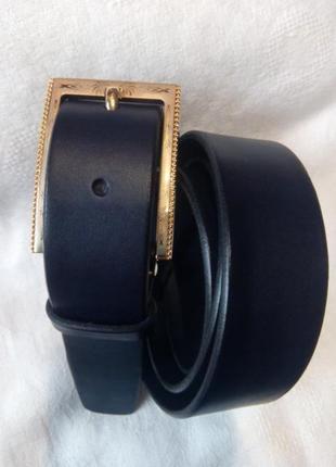 Женский кожаный пояс темно черный ремень отличная длина в наличии