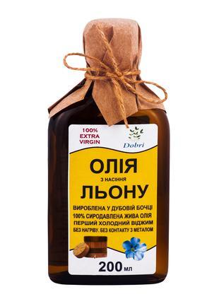Льняное масло из дубового пресса (200мл)