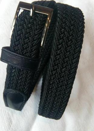 Детский подростковый эластичный пояс резинка черный в наличии