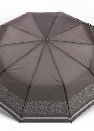 Женский зонт полуавтомат серый в наличии
