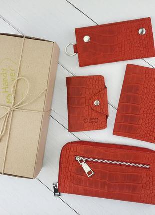 Подарочный набор №27: кошелек + обложка на паспорт + ключница ...