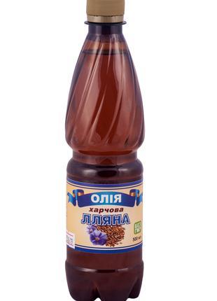 Льняное масло салатное, 500мл в пластике