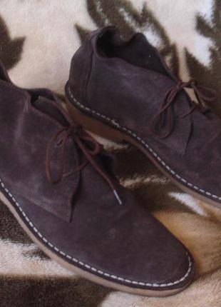 Topman брендовые мужские замшевые ботинки 43-43,5 р.