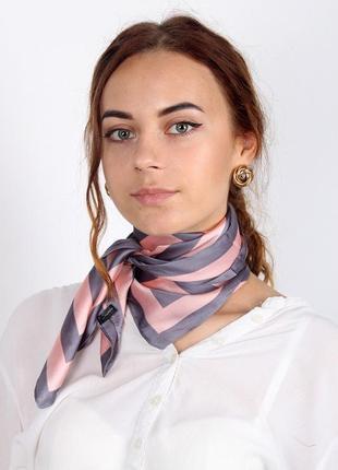 Шейный платок косынка для волос пудра серый