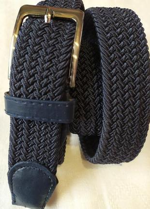Удобный эластичный пояс резинка ремень синий джинс в наличии