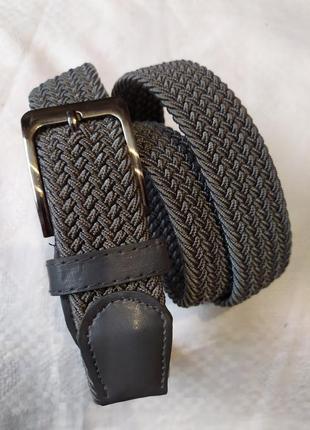 Светло-серый эластичный ремень пояс резинка в наличии