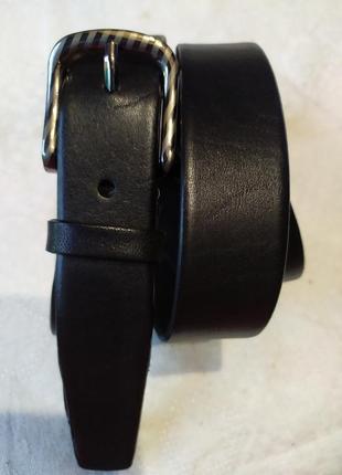 Пояс кожаный детский подростковый ремень черный в наличии